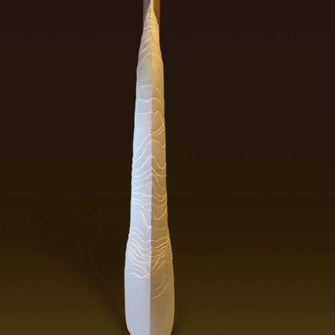 Argilla bianca e smalti - White clay and enamels - 51x16x134h