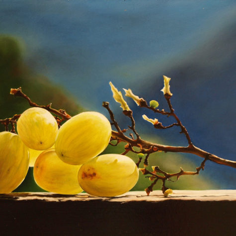 ST12814 - olio su pannello - oil on panel - 38x19h