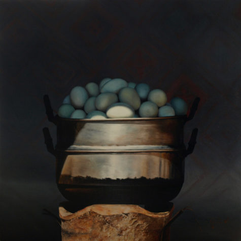 ST612 - olio su pannello - oil on panel - 45x45h